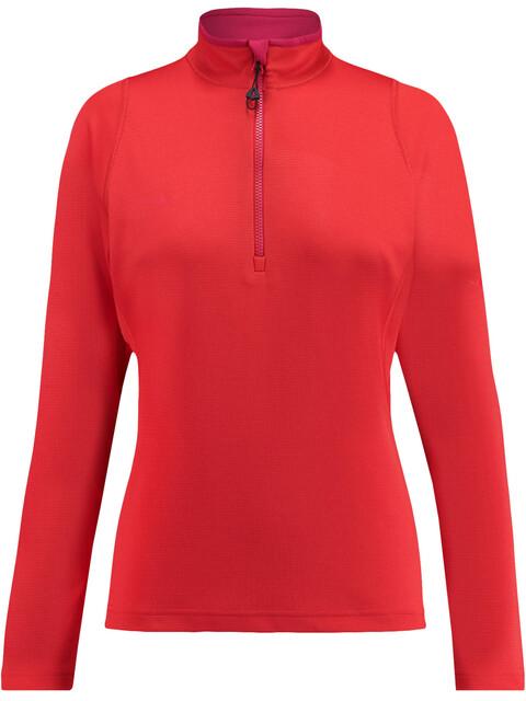 Kaikkialla W's Eveliina Zipp Shirt 1/1 Bright Red